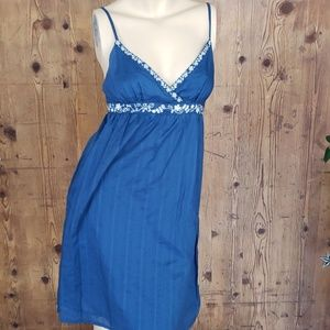 Aeropostale blue cotton summer dress size small